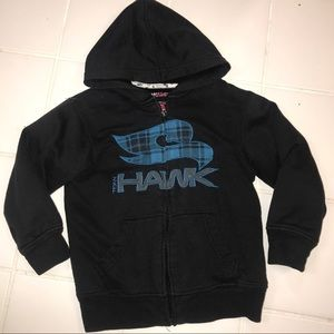 Retl$40 Hawk skate boys fleece jacket hood